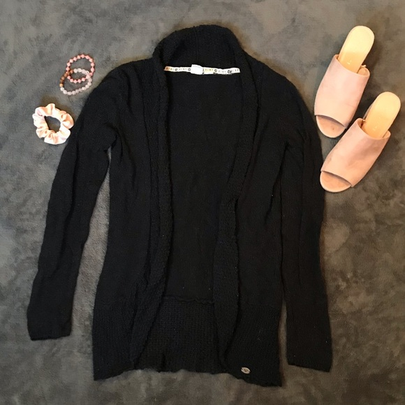 Roxy black knit cardigan